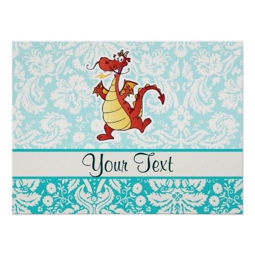 Cartoon Dragon; Cute Poster
