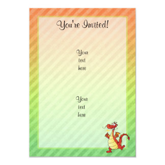 Cartoon Dragon Design Card