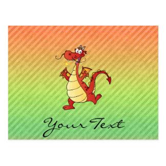 Cartoon Dragon Design Postcard