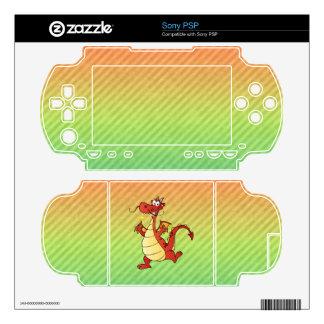 Cartoon Dragon Design PSP Skin