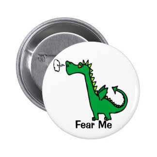 Cartoon Dragon Fear Me Button