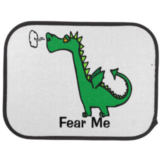 Cartoon Dragon Fear Me Car Mat