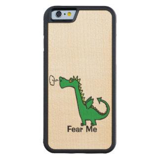 Cartoon Dragon Fear Me Carved® Maple iPhone 6 Bumper