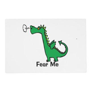 Cartoon Dragon Fear Me Placemat