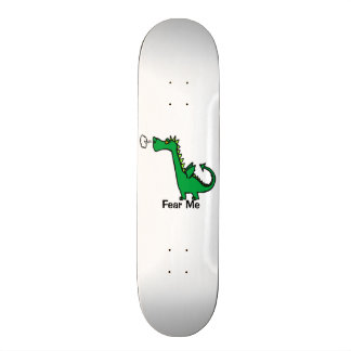 Cartoon Dragon Fear Me Skateboard Deck