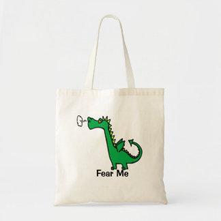 Cartoon Dragon Fear Me Tote Bag
