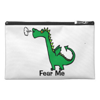 Cartoon Dragon Fear Me Travel Accessory Bag