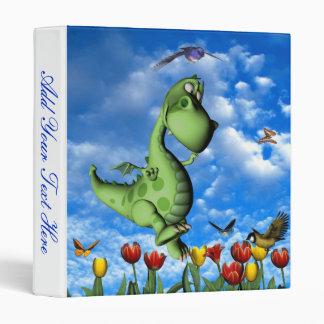 Cartoon Dragon Frolicking Binder