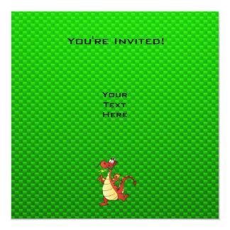 Cartoon Dragon; Green Card