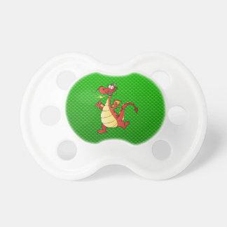 Cartoon Dragon; Green Baby Pacifier