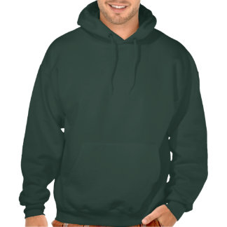 Cartoon Dragon; Green Hooded Sweatshirts