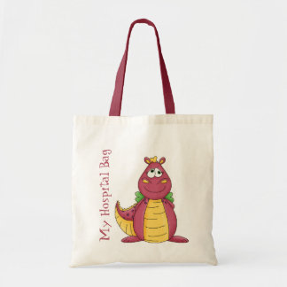 Cartoon Dragon Hospital Over Night Tote Bags