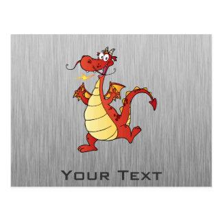 Cartoon Dragon; Metal-look Postcard