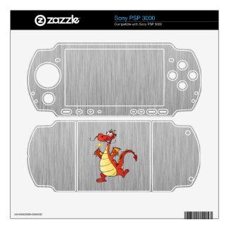Cartoon Dragon; Metal-look Decal For Sony PSP 3000