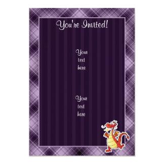 Cartoon Dragon; Purple Card