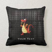 Cartoon Dragon; Rugged Throw Pillow