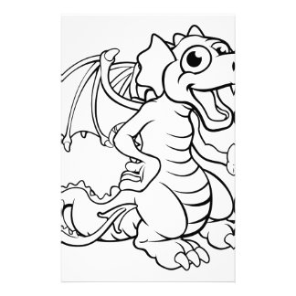 Cartoon Dragon Stationery