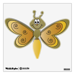 Cartoon Dragonfly Design Wall Sticker