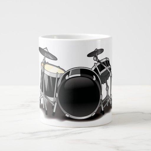 Cartoon Drummer Mug Jumbo Mug