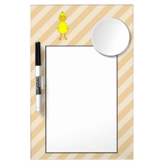 Cartoon Duck. Dry Erase Board With Mirror