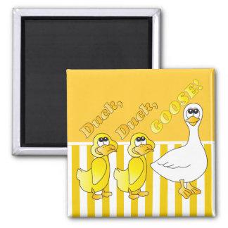 Cartoon Duck, Duck, Goose Magnet