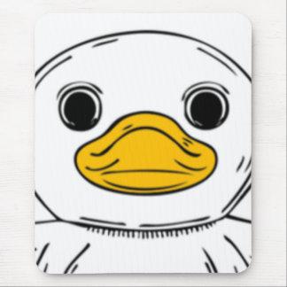 Cartoon Duck Face Mouse Pad
