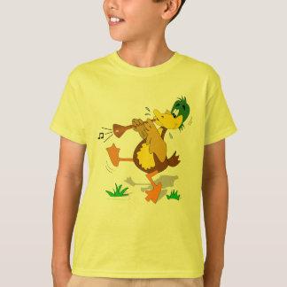 Cartoon Duck Playing Zurna Kids Shirt
