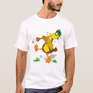 Cartoon Duck Playing Zurna Shirt
