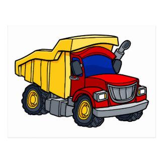 Cartoon Dump Truck Postcard