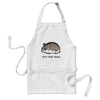 Cartoon Dwarf Hamster Adult Apron