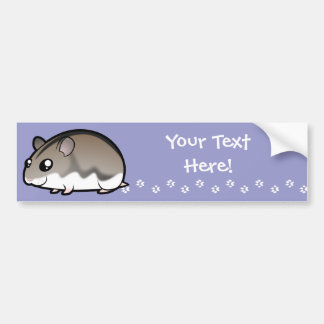 Cartoon Dwarf Hamster Bumper Sticker