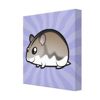 Cartoon Dwarf Hamster Canvas Print