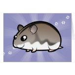 Cartoon Dwarf Hamster Card