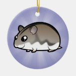 Cartoon Dwarf Hamster Ceramic Ornament