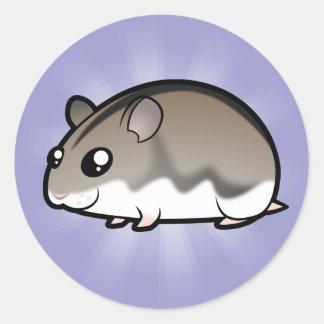 Cartoon Dwarf Hamster Classic Round Sticker