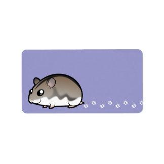 Cartoon Dwarf Hamster Label
