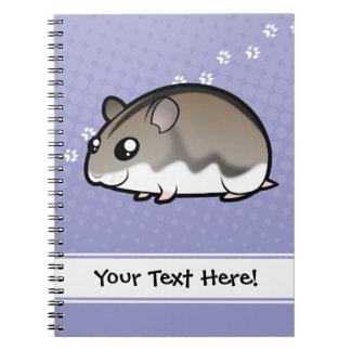 Cartoon Dwarf Hamster Notebook