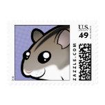 Cartoon Dwarf Hamster Postage Stamp