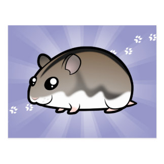 Cartoon Dwarf Hamster Postcard