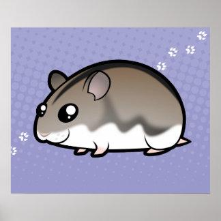 Cartoon Dwarf Hamster Print