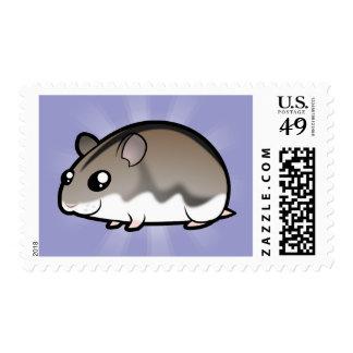 Cartoon Dwarf Hamster Stamp