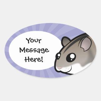 Cartoon Dwarf Hamster Sticker
