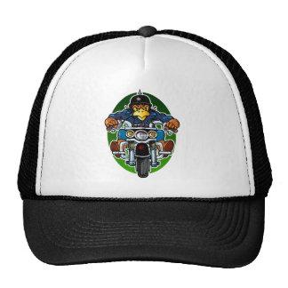 Cartoon Eagle Biker Trucker Hat