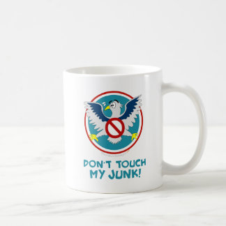Cartoon Eagle Don't Touch My Junk Funny TSA Logo Coffee Mug