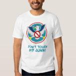 Cartoon Eagle Don't Touch My Junk Funny TSA Logo T-Shirt