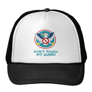 Cartoon Eagle Don't Touch My Junk Funny TSA Logo Trucker Hat