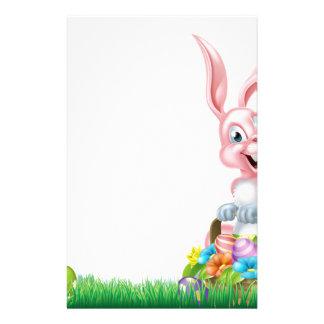 Cartoon Easter Bunny Egg Basket Stationery