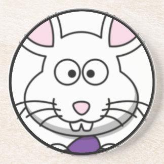 Cartoon Easter Bunny Face Coaster