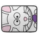 Cartoon Easter Bunny Face MacBook Pro Sleeve