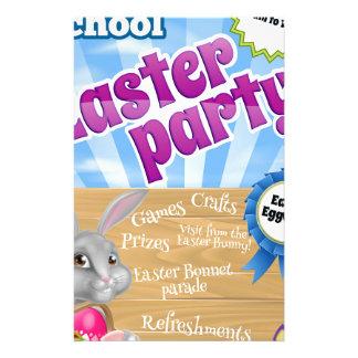 Cartoon Easter Bunny Invite Stationery